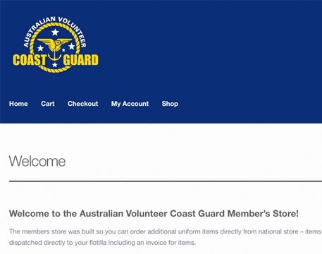 Coast Guard Web Store