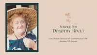 Dorothy Hoult 9th August 2021 Commencing at 1PM