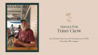 Terry Crow 19th August 2021 Commencing at 2PM